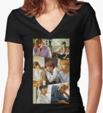 Camiseta entallada de cuello en V bts ámate a ti mismo 2