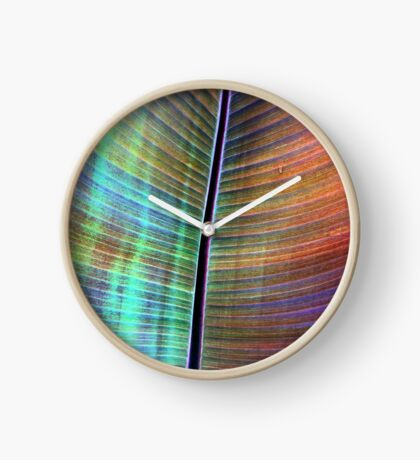 Rainbow Leaf Clock