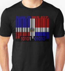 Dominican Republic Barcode Flag Made In... T-Shirt