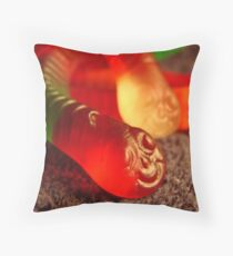 Friendly Worms Throw Pillow