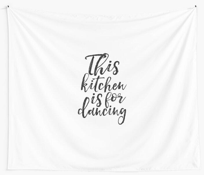 This kitchen is for dancingkitchen decorkitchen wall artkitchen sign