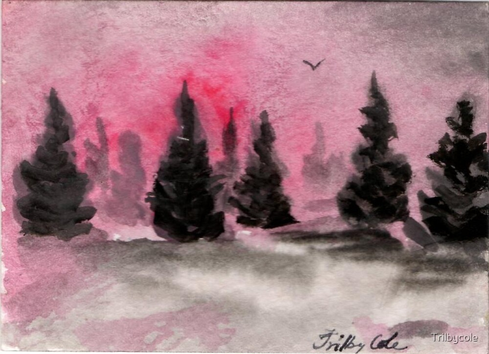 Winter Wonder - ACEO by Trilbycole