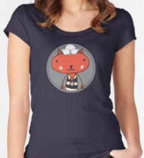 Nautical Adventures: Sailor Cat Women's Fitted Scoop T-Shirt