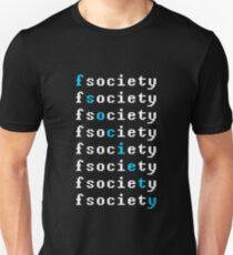 Fsociety Blue Diagonal T-Shirt