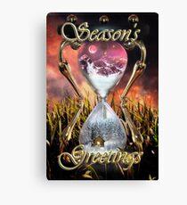 Avalanche Season's Greetings / Christmas Card Canvas Print