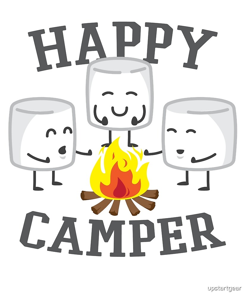 Happy Camper Marshmallows Design by upstartgear