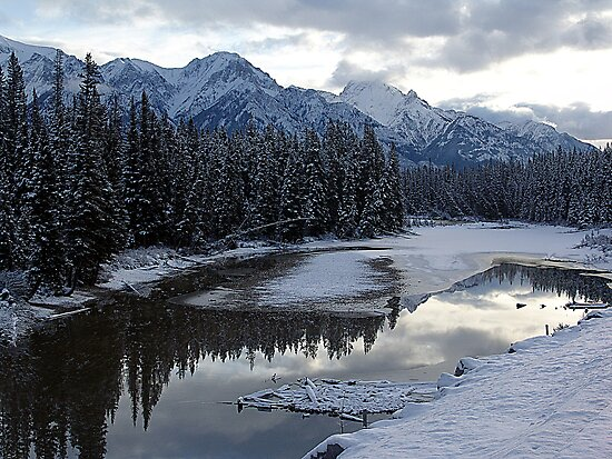 Reflections of Winter, Rocky Mountains by George Cousins