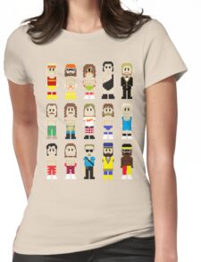 8-Bit Wrestlers! Womens Fitted T-Shirt