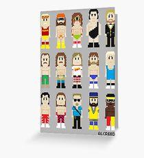 8-Bit Wrestlers! Greeting Card