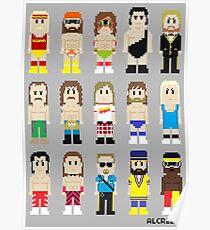 8-Bit Wrestlers! Poster