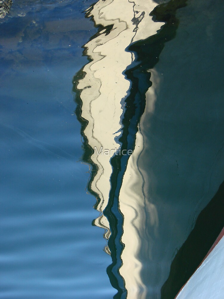 Boat Reflections-Inverse by Martice