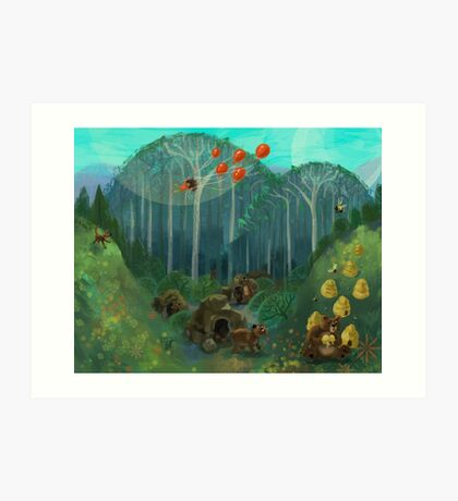 Balloon Lift Off 5, Wild Art Print