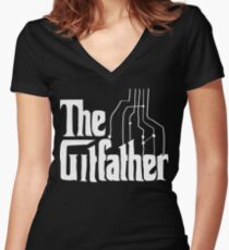 The Gitfather Women's Fitted V-Neck T-Shirt