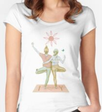 Yogi love soft pink Women's Fitted Scoop T-Shirt