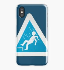 Photograph of a Danger of Falling Sign iPhone Case/Skin