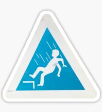 Photograph of a Danger of Falling Sign Sticker
