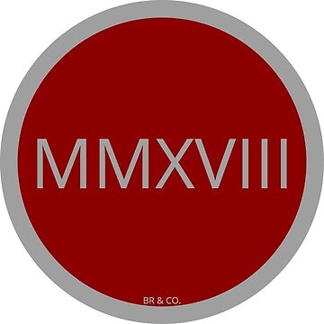 MMXVIII – 2018  by jgarnas