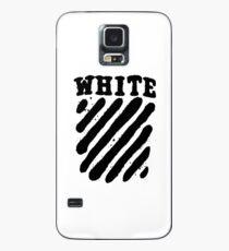 Off White Grunge Black Case/Skin for Samsung Galaxy