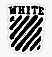 Off White Grunge Black Sticker