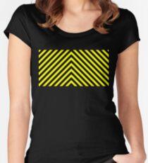 Steely Schwarz und Gelb Tailliertes Rundhals-Shirt