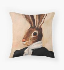 Hare Throw Pillow