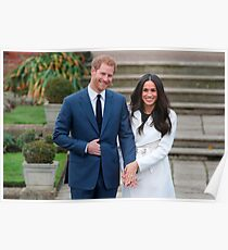 Prince Harry and Meghan Markle engagement 2017 ring rare Poster