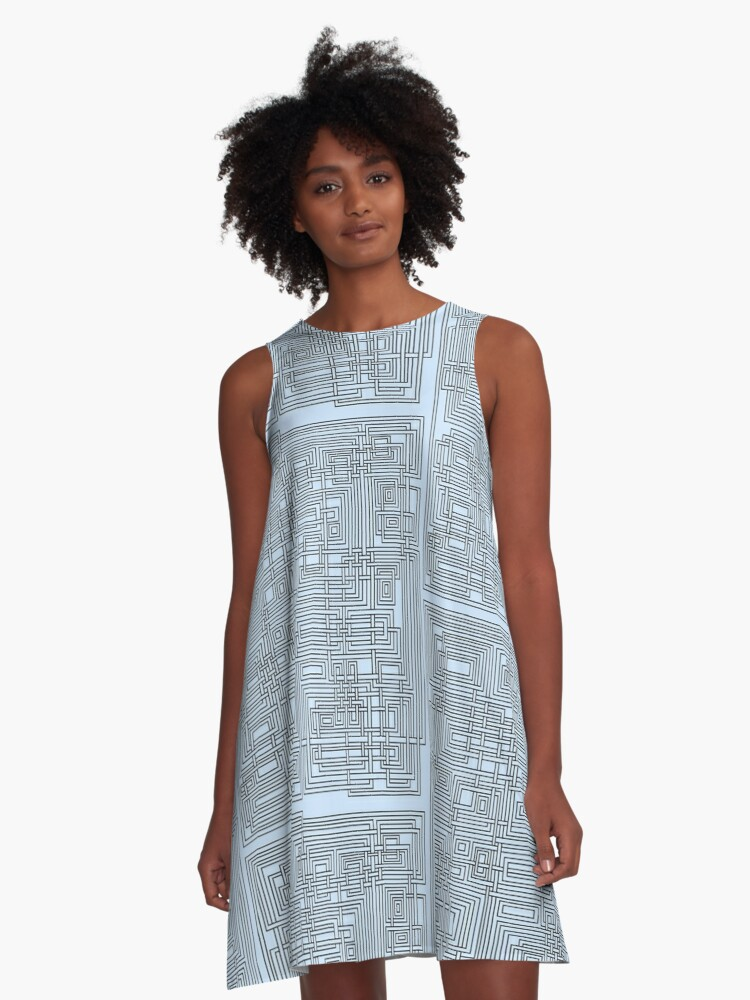 Tangled Pipe Design A-Line Dress Front
