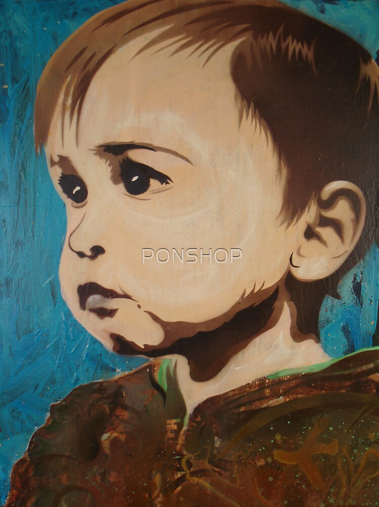 Portrait of an Artist as a Young Boy by PONSHOP
