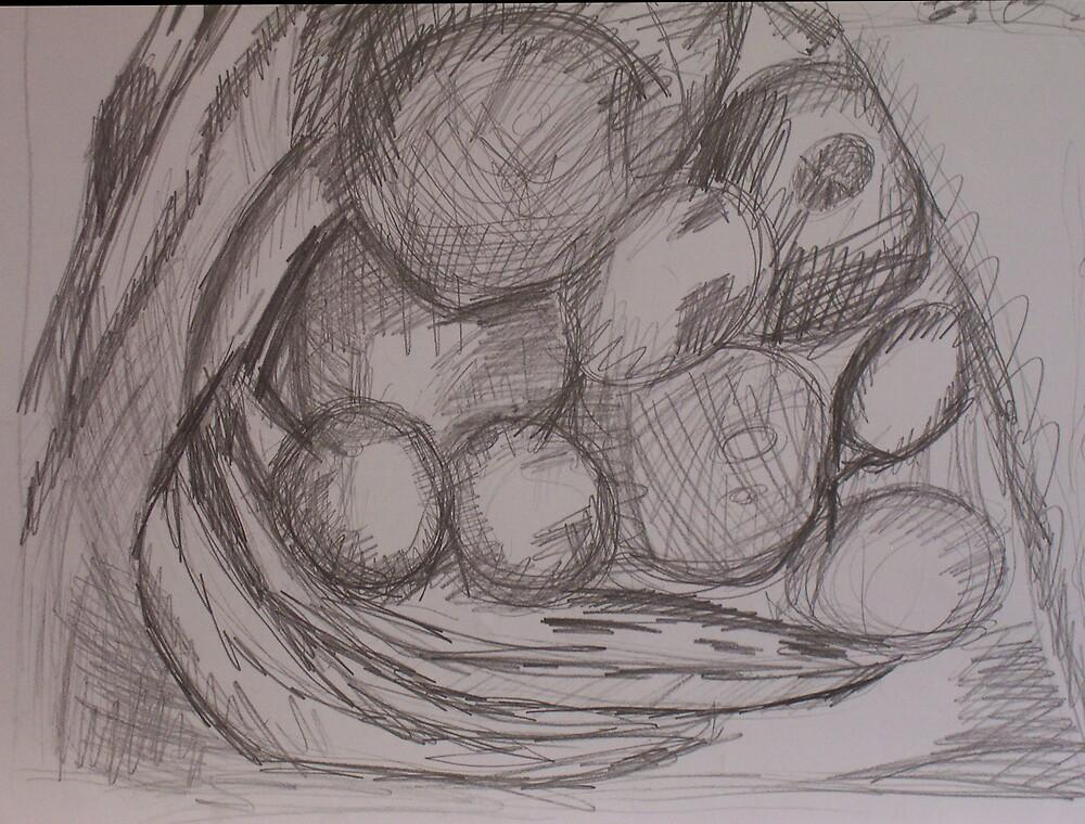 Fruit drawing pencil by Lyn  Gunawan