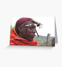Masai man, Masai Mara Greeting Card