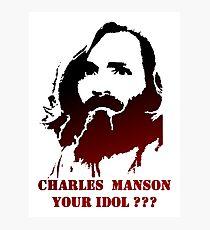 Charles Milles Manson Photographic Print