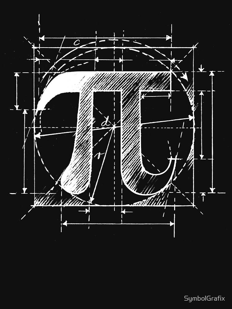 Pi Symbol Sketch White by SymbolGrafix