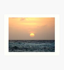 Sunset in Bonaire Art Print
