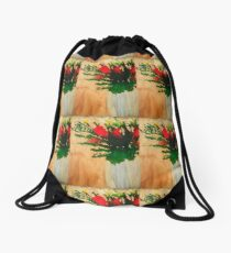 """Flowers in a Vase"" Original by Tony DuPuis Drawstring Bag"