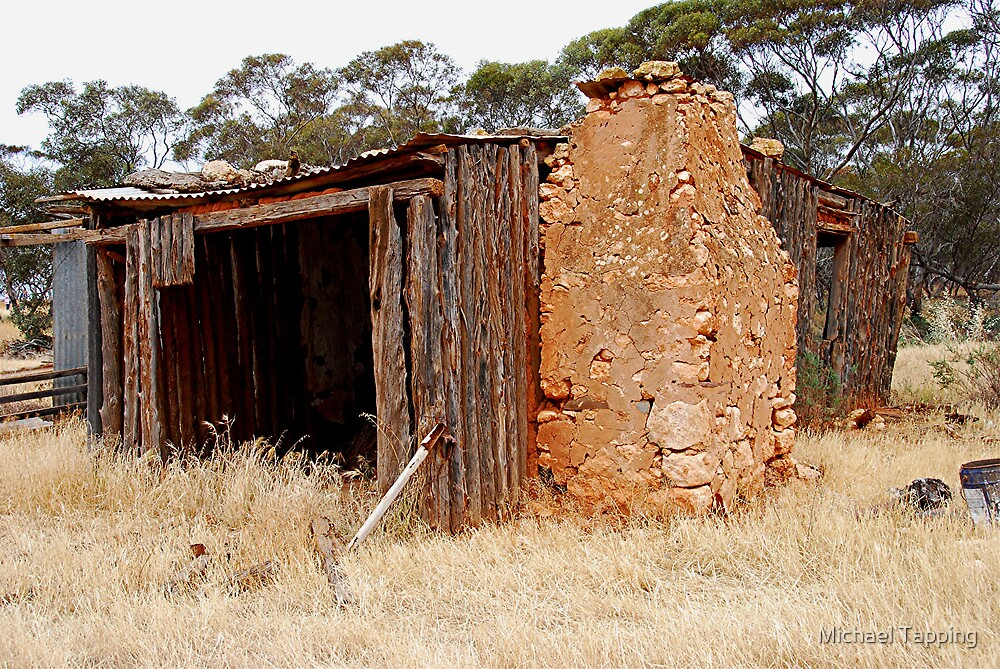 Old Hut - Monarto - South Australia by Michael Tapping