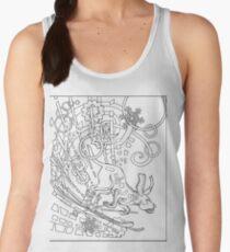 Hound Dog Illustration Women's Tank Top