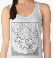 Tree Needs Coffee And Doughnuts Women's Tank Top