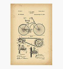 1890 Patent Bicycle Photographic Print