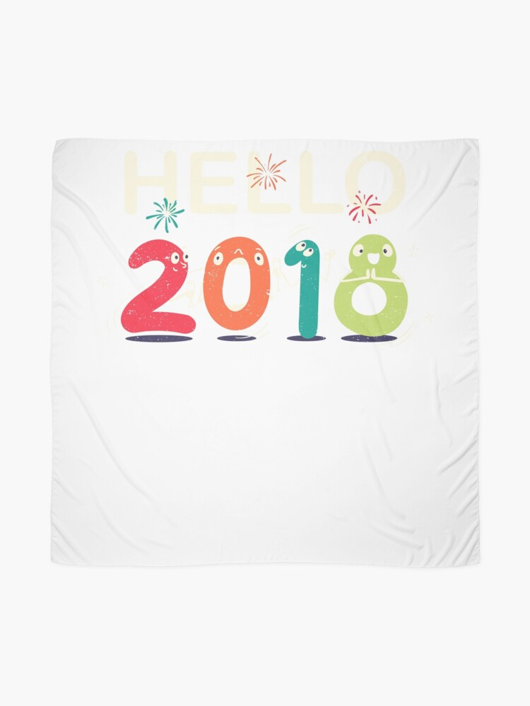 Alternate view of Happy New Year Eve Party Shirt Hello 2018 T Shirt Mug Gift Idea Scarf