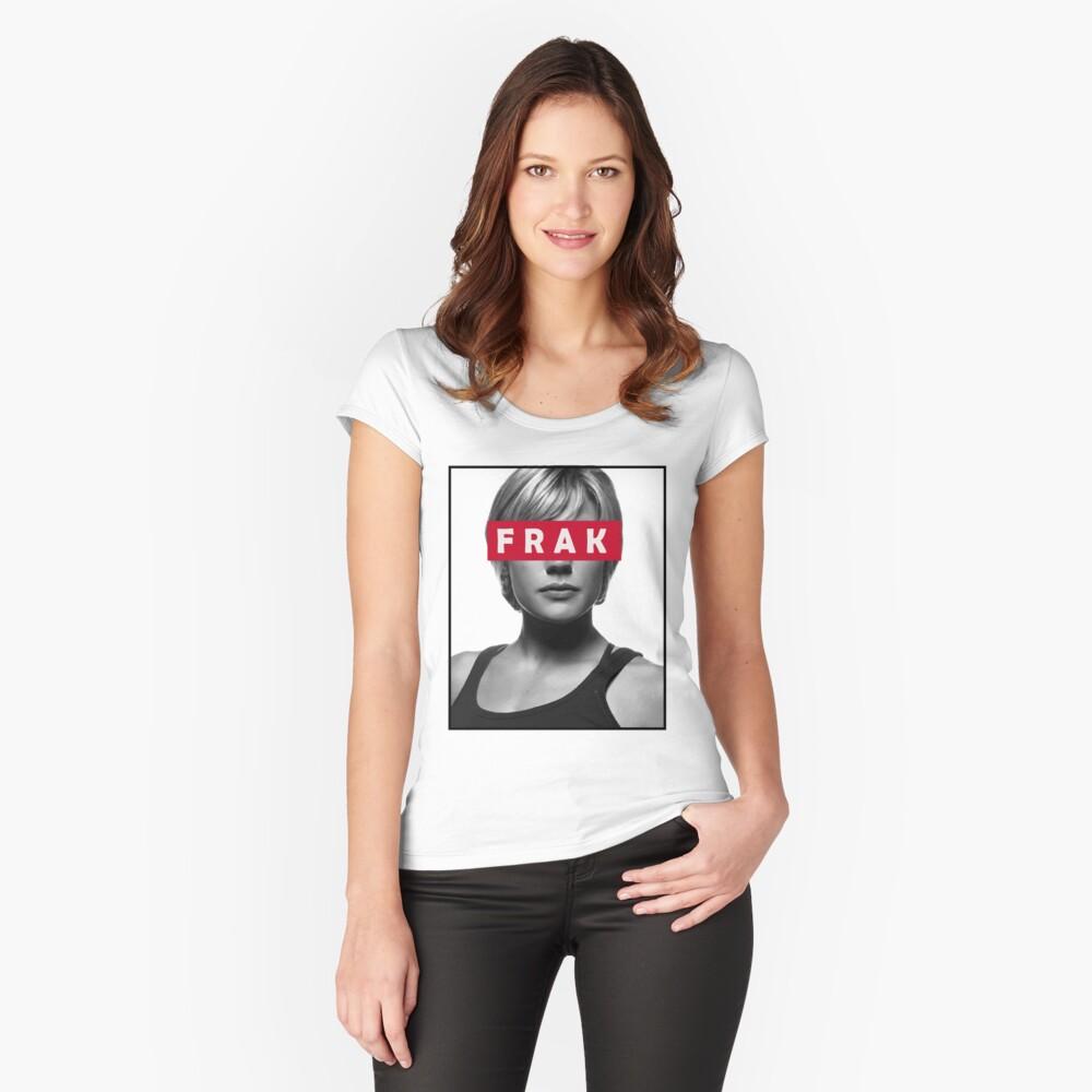 Starbuck - Frak - Battlestar Galactica Women's Fitted Scoop T-Shirt Front