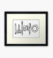 Art Tools Framed Print