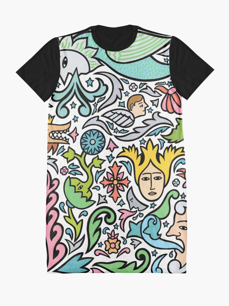 Alternate view of In the sky tonight Graphic T-Shirt Dress
