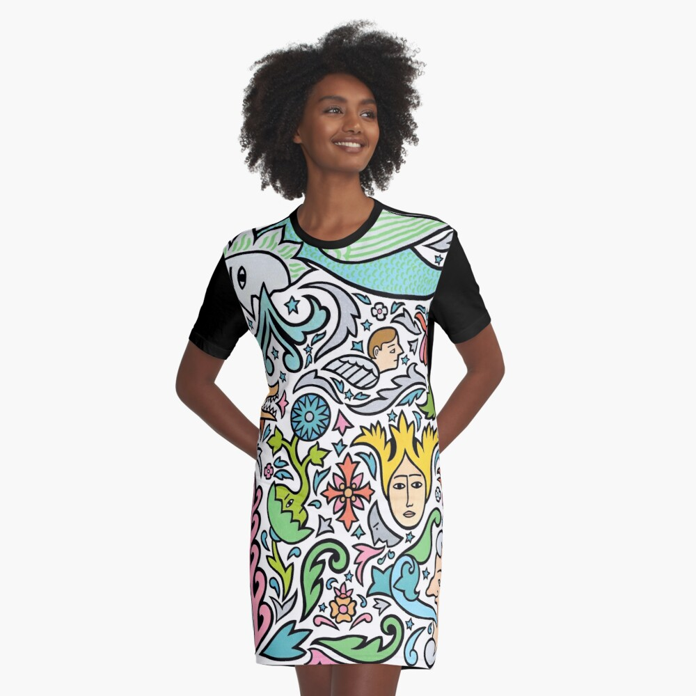 In the sky tonight Graphic T-Shirt Dress