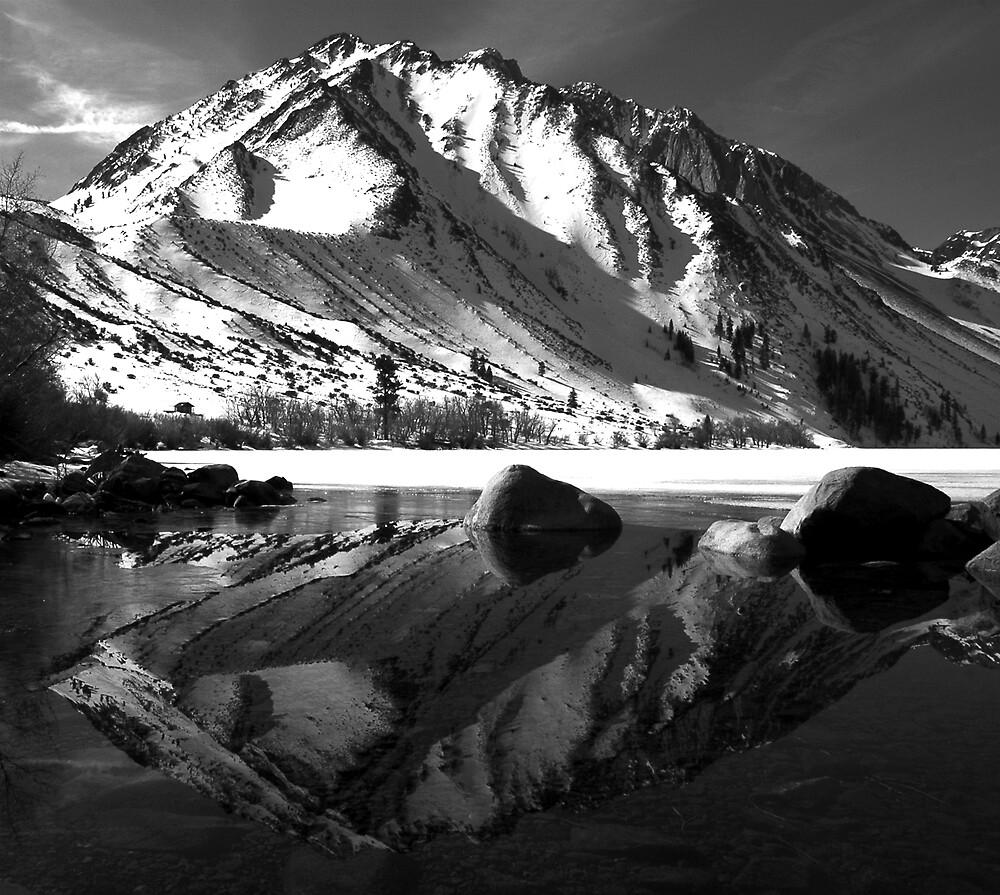 Convict Lake B & W by Pete Vande Meulen