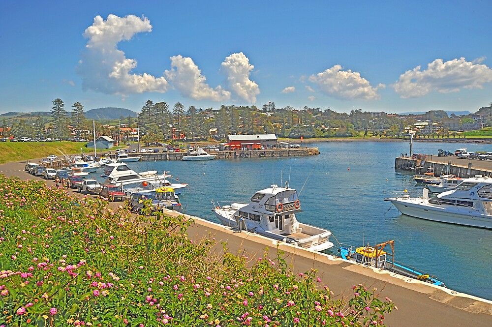 Small Harbour at Kiama Beach by satwant