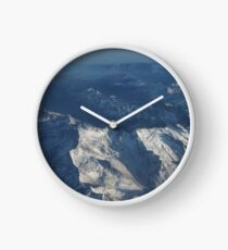 Bird's Eye Alps Mountains Clock