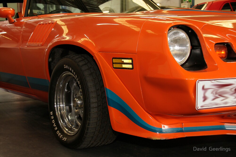 Z28 Camaro front right quarter by David  Geerlings