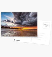 Black Gold Sunset Postcards