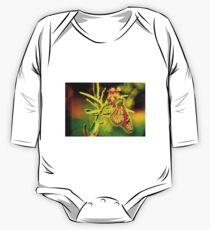 Monarch Butterfly Abstract Glow One Piece - Long Sleeve
