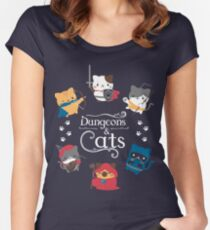 Dungeons and Cats Women's Fitted Scoop T-Shirt